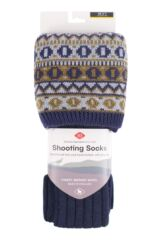 Ladies 1 Pair HJ Hall UK Made Fairisle Merino Wool Shooting Knee High Socks Packaging Image