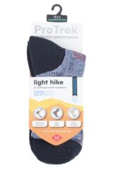 Mens and Ladies 1 Pair HJ Hall ProTrek Light Weight Hiking Socks Packaging Image