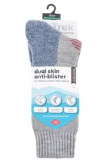 Mens and Ladies 1 Pair HJ Hall ProTrek Dual Skin Anti Blister Walking Socks Packaging Image