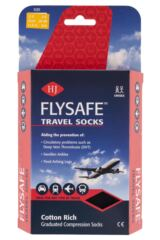 Ladies 1 Pair HJ Hall Flysafe Cotton Flight and Travel Socks Packaging Image