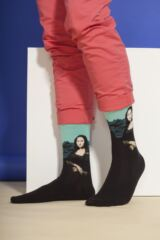 Mens 1 Pair HotSox Artist Collection Mona Lisa Cotton Socks Leading Image