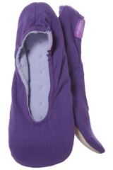 Ladies 1 Pair Isotoner Stretch Jersey Ballet Slippers In Mauve