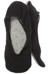Ladies 1 Pair Isotoner Stretch Jersey Ballet Slippers In Black