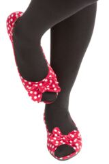 Ladies 1 Pair Rollasole Deluxe Range Dotty For You Red Polka Dot Shoes