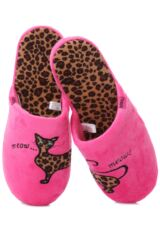 Ladies 1 Pair Totes Leopard Cat Novelty Mule Style Slippers 25% OFF