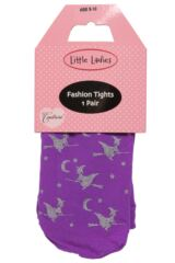 Girls 1 Pair Couture Little Ladies Halloween Witch Tights 50% OFF