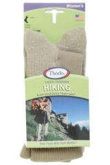 Ladies 1 Pair Thorlos Hiking Thick Cushion Socks With Thorlon Packaging Image