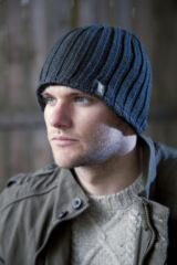 Mens 1 Pack Heat Holders 3.4 Tog Heatweaver Yarn Hat In Black