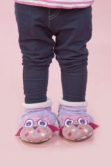 Girls 1 Pair Totes Tots Owl Slippers with Grip