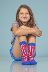 Kids 1 Pair SockShop Union Jack Design Cotton Rich Socks Leading Image