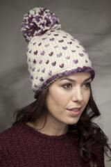 Ladies SockShop Minnie Hearts with Pompoms Knitted Hat 75% OFF