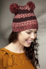 Ladies SockShop Teddy Beanie Hat With Pompom Ears