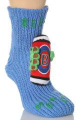 Mens 1 Pair SockShop Toy Box Socks Beer Monster With Non-slip Grip