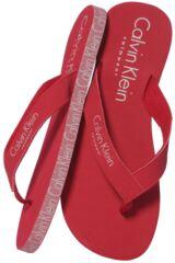 Mens 1 Pair Calvin Klein Logo Tape Flip Flops
