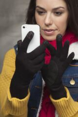 Ladies 1 Pair Isotoner Smartouch Fine Knit Gloves 33% OFF