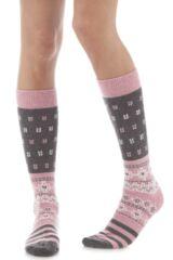 Ladies 1 Pair Elle Wool Fairisle Winter Activity Ski Socks