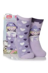 Girls 2 Pair Totes Tots Princess Slipper Socks 75% OFF
