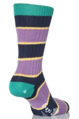 Mens 1 Pair Corgi 100% Cotton Triple Stripe Socks In 6 Colours