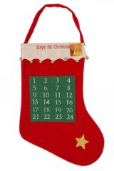 SockShop Christmas Stocking With 24 Day Calendar Design