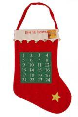SockShop Christmas Stocking With 24 Day Calendar Design