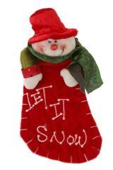 "SockShop Mini Christmas Stocking Snowman ""Let It Snow"" Design"