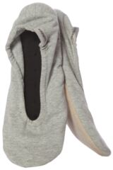 Ladies 1 Pair Isotoner Stretch Jersey Ballet Slippers In Grey