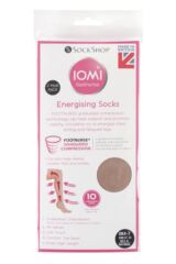 Ladies 2 Pair Iomi Footnurse Energising Compression Socks Packaging Image
