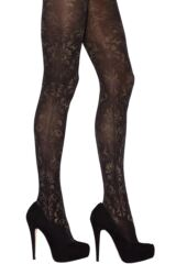 Ladies 1 Pair Jonathan Aston Carnival Floral Shine Tights Leading Image