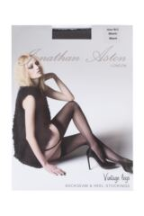 Ladies 1 Pair Jonathan Aston Lycra Seam and Heel Stockings Product Shot