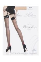 Ladies 1 Pair Jonathan Aston Contrast Seam And Heel Stockings Packaging Image