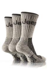 Mens 3 Pair Jeep Luxury Terrain Socks In 3 Colours Grey 6-11