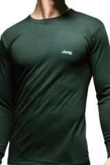 Mens 1 Pack Jeep Long Sleeved Thermal T-Shirt In 3 Colours Black L