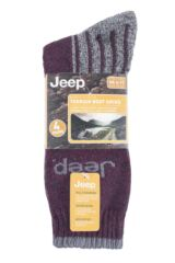 Mens 4 Pair Jeep Polyester Boot Socks Packaging Image