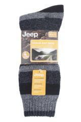 Mens 4 Pair Jeep Performance Boot Socks Packaging Image