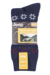 Mens 2 Pair Jeep Brushed Thermal Boot Socks Packaging Image