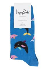 Boys & Girls 1 Pair Happy Socks Dolphin Cotton Socks Packaging Image