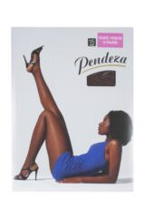 Ladies 1 Pair Pendeza 15 Denier Tone 10, 20, 30, 40 and 50 Knee Highs For Darker Skin Tones Packaging Image