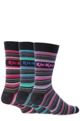 Mens 3 Pair Kickers Marais Multi Stripe Socks 33% OFF