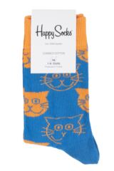 Boys & Girls 1 Pair Happy Socks Cats Cotton Socks Packaging Image