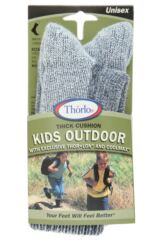 Kids 1 Pair Thorlos Outdoor Moderate Cushion Socks With Thorlon Packaging Image