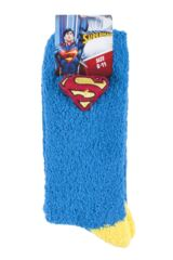 Mens 1 Pair DC Comics Superman Slipper Socks with Grips Packaging Image
