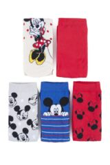 Ladies 5 Pair SockShop Mickey Mouse and Minnie Mouse Cotton Socks Packaging Image