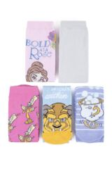 Ladies 5 Pair SockShop Beauty and the Beast Cotton Socks Packaging Image