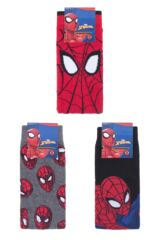 Mens and Ladies SOCKSHOP 3 Pair Marvel Spider-Man Cotton Socks Packaging Image