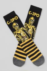 Mens SOCKSHOP 3 Pair Star Wars R2-D2, C-3PO and BB-8 Droids Pack Cotton Socks Leading Image