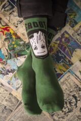 SOCKSHOP Marvel Guardians of the Galaxy Groot, Rocket, Star-Lord and Drax Cotton Socks Leading Image