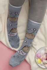 Ladies SOCKSHOP 3 Pair Pusheen Dinosaur, Unicorn and Mermaid Cotton Socks Leading Image