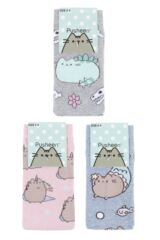 Ladies SOCKSHOP 3 Pair Pusheen Dinosaur, Unicorn and Mermaid Cotton Socks Packaging Image