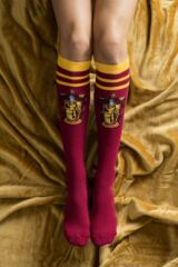 Ladies SockShop 4 Pair Harry Potter House Badges Cotton Knee High Socks Leading Image