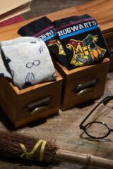 Ladies SOCKSHOP 2 Pair Harry Potter Hogwarts and Golden Snitch Cotton Socks Leading Image